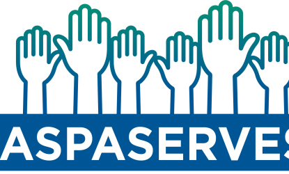 naspaserves logo with raised hands